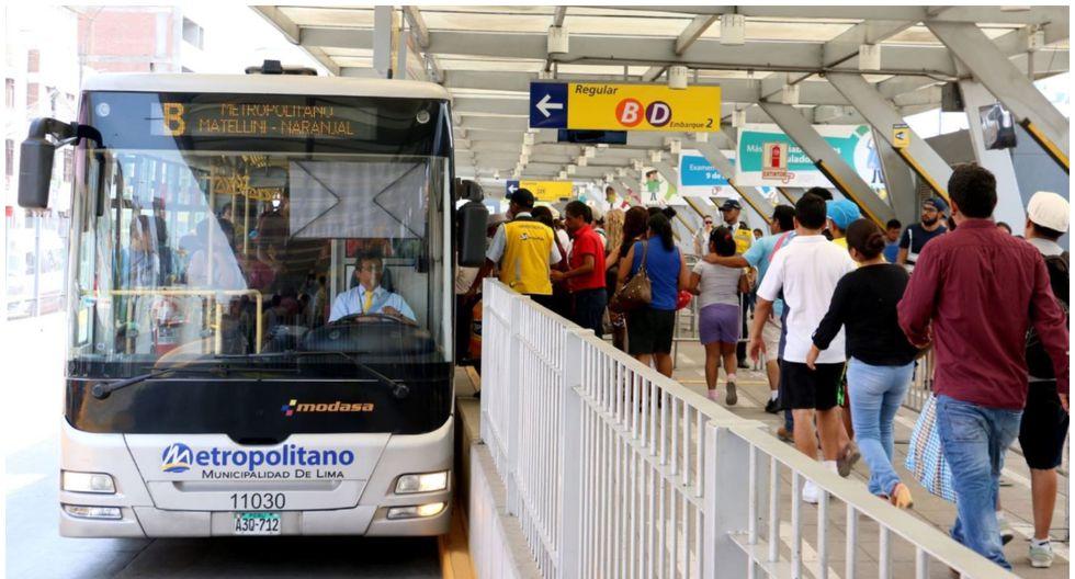 Horario del Metropolitano va desde las 5:00 a.m. hasta las 8:00 p.m.