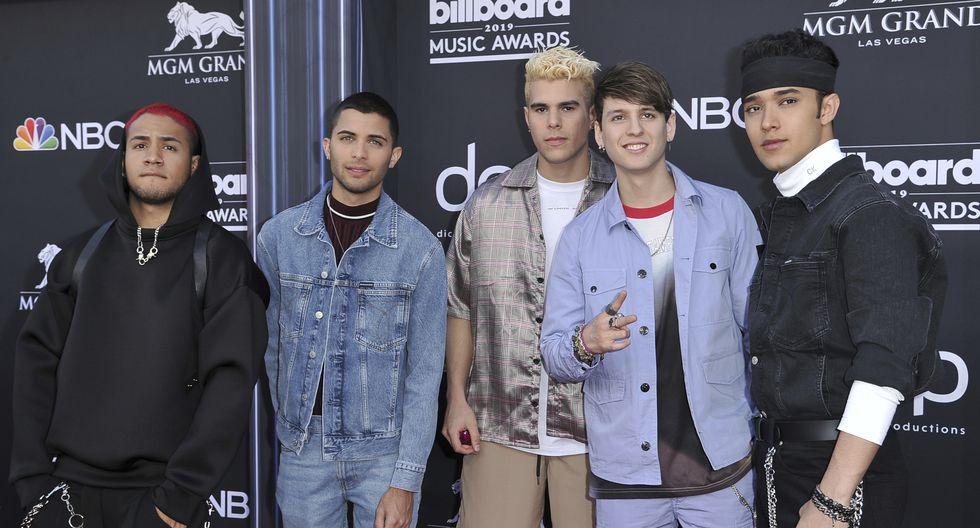 CNCO en el Billboard Music Awards 2019. (AFP)