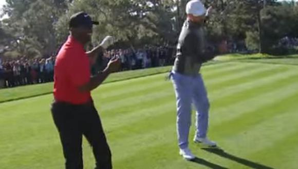 YouTube: Justin Timberlake y Alfonso Ribeiro hicieron el baile de 'Carlton' en torneo de golf. (Captura)