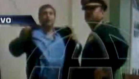 Repetto amenazó a policías. (Imagen de TV)