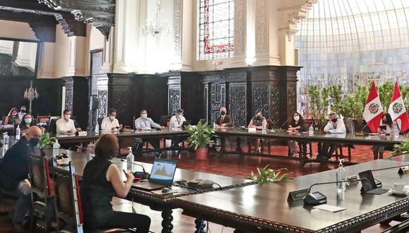 Integrantes del Ejecutivo brindarán conferencia de prensa. (Foto: Presidencia)