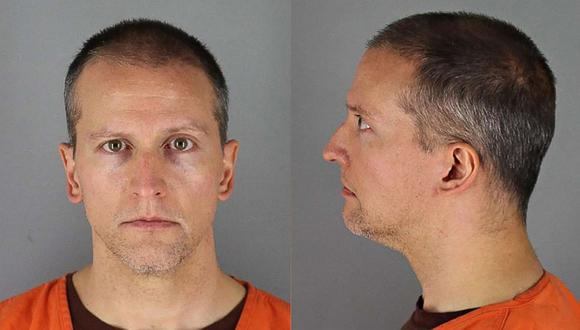 Como no tiene antecedentes penales, Derek Chauvin solo podría ser condenado a un máximo de 12 años y medio de prisión por cada uno de los primeros dos cargos y a 4 años de cárcel por el tercero. (Foto: Handout / Hennepin County Jail / AFP)
