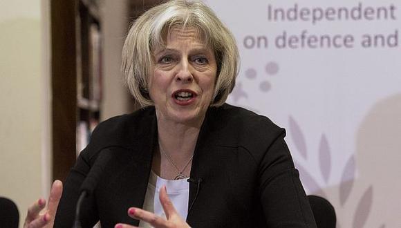 Theresa May, ministra del Interior, dio preocupante cifra sobre esclavitud en Reino Unido. (EFE)
