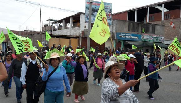 Las protestas por Tía María generan pérdidas diarias de US$13.8 millones. (Foto: GEC)