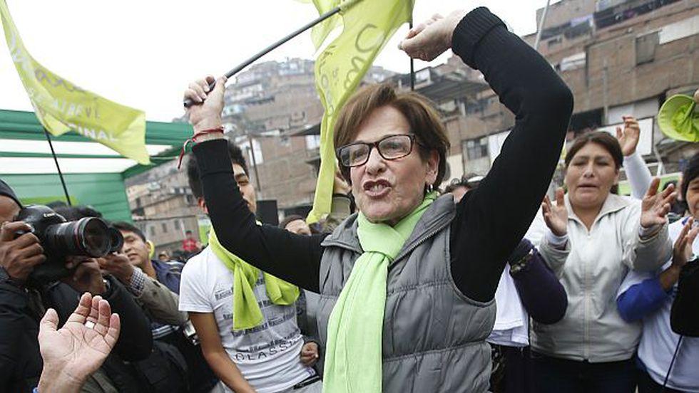 Susana Villarán reportará sus gastos de campaña después de las elecciones. (Martín Pauca)