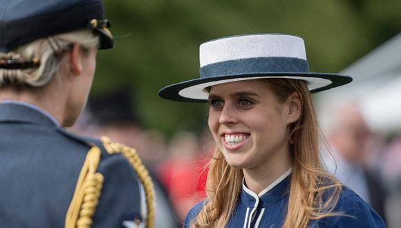 Beatriz de York anunció su embarazo el mismo día del aniversario de bodas de Enrique y Meghan. (Foto: AFP)