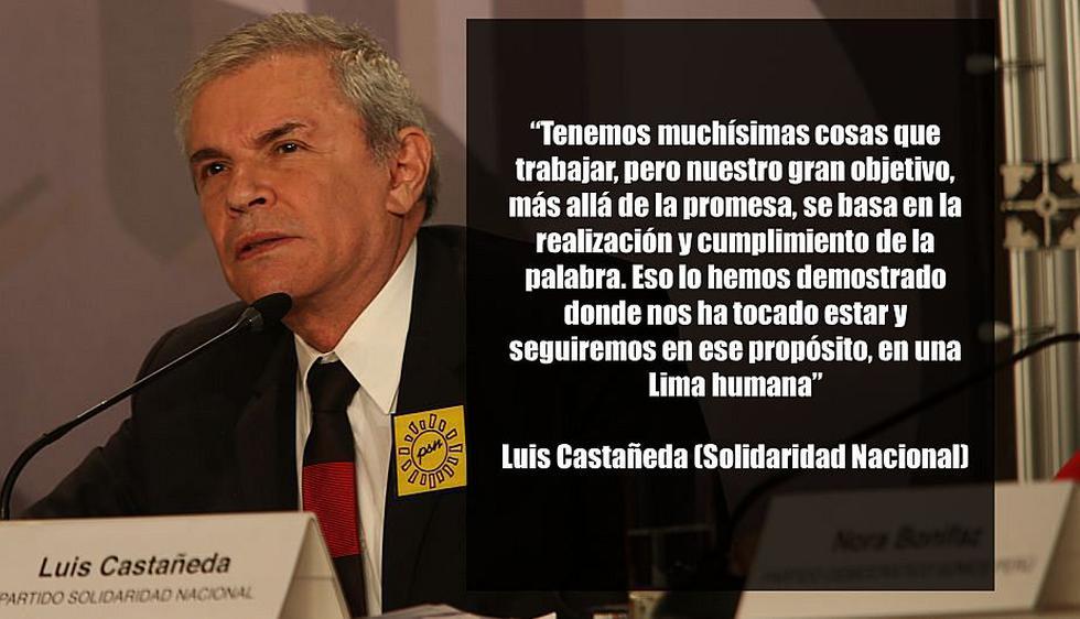 Luis Castañeda, candidato a la Alcaldía de Lima por Solidaridad Nacional. (USI)