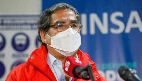 """El ministro de Salud, Óscar Ugarte, indicó que con las afirmaciones de Mazzetti, la vacunación irregular de Elizabeth Astete fue una """"decisión individual"""". (Foto: Minsa)"""