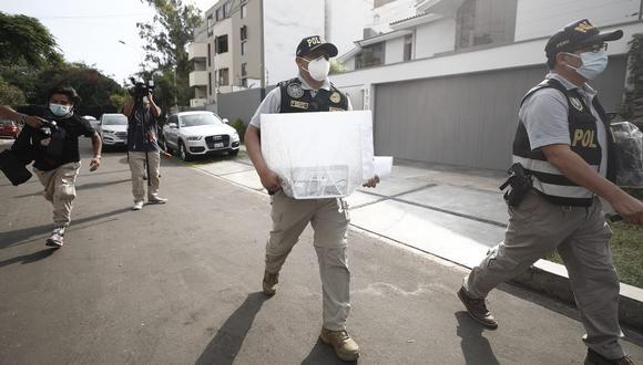 Efectivos de la Diviac intervinieron en febrero la sede del Minsa por el caso de las vacunaciones clandestinas. (GEC)