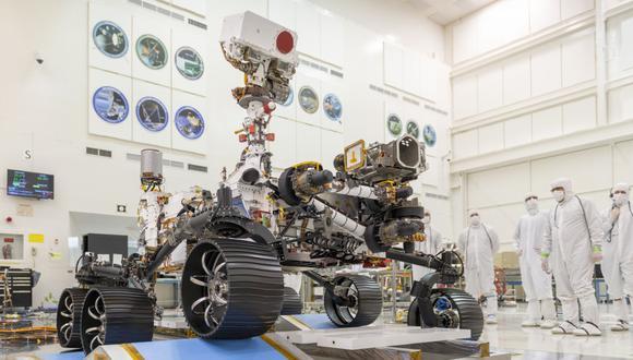 Perseverance aterrizará el 18 de febrero de 2021 en el cráter de Jezero, en Marte. (Foto: AFP / NASA/JPL-CALTECH)