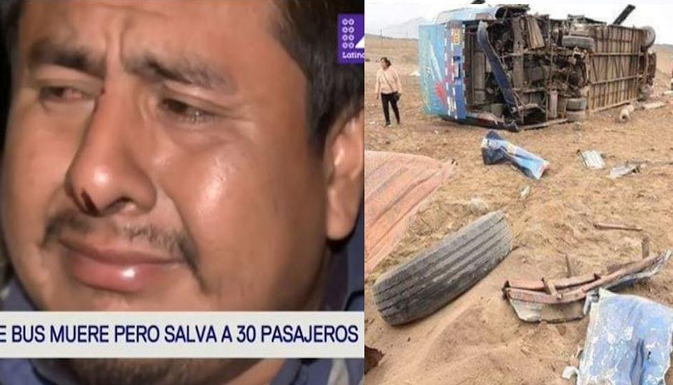 """Copiloto se quiebra y revela última conversación con chofer que se sacrificó en Pasamayo: """"Lo que Dios quiera"""". (Composición)"""