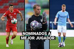 De Bruyne, Lewandowski y Neuer, los candidatos al premio jugador del año por la UEFA