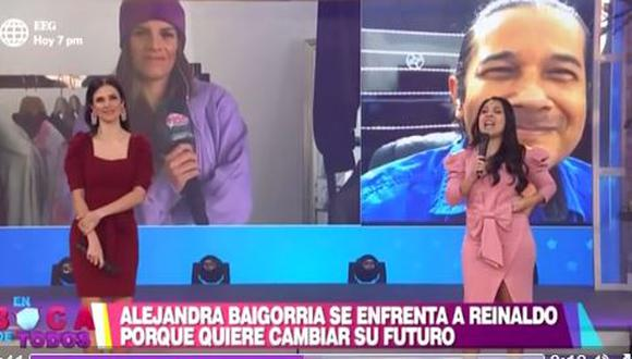 """Alejandra Baigorria y Reinaldo Dos Santos protagonizan incómodo momento luego que ella lo calificara de """"farsante"""". (Foto: captura de video)"""