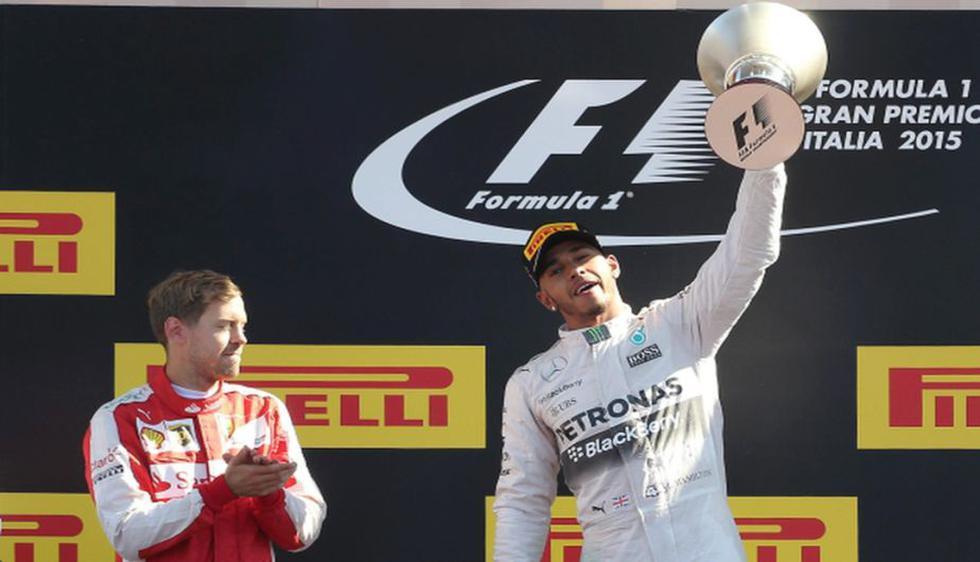 Lewis Hamilton se impuso su compatriota Kimi Raikkonen (AP)