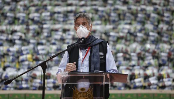 Sagasti anunció que personas con problemas congénitos, genéticos o degenerativos serán vacunadas contra el COVID-19. Foto: Jorge Cerdan/@photo.gec