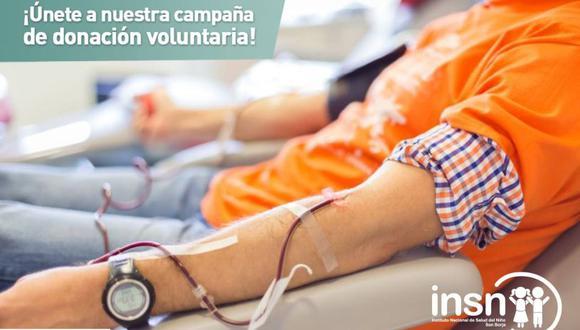 El horario de atención en el banco de sangre del INSN-San Borja es de lunes a domingo de 7 a.m. a 7 p.m.