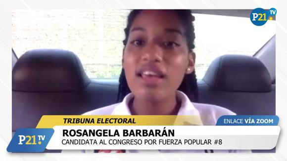 Rosangela Barbarán candidata al Congreso por Fuerza Popular