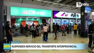 Arequipa: Suspenden servicio de transporte terrestre, aéreo y ferroviario por incremento de contagios