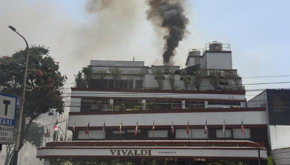 Incendio se reporta en restaurante Vivaldi. (Foto: Andina)