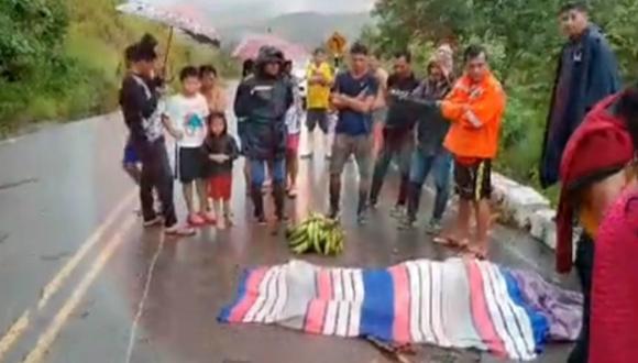 San Martín: Delincuentes matan a balazos a padre de familia por no dejarse robar su motocar (captura Vía Televisión)