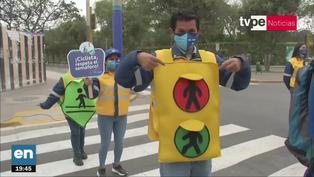 Municipalidad Metropolitana de Lima realizó campaña de concientización vial al estilo de 'El juego del calamar'