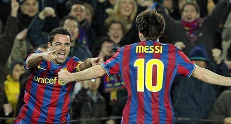 Para ilustrar su mensaje de apoyo, Lionel Messi colgó una fotografía a través de Instagram en la que celebra con Xavi un gol en el estadio Camp Nou. (Foto: Instagram @leomessi)