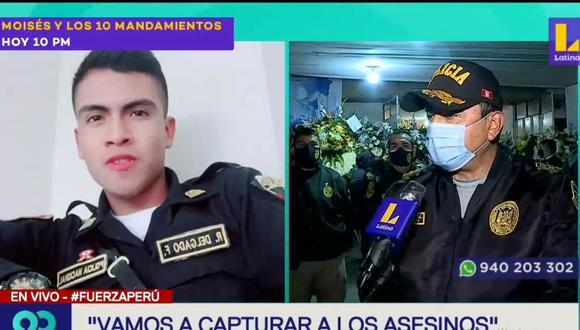 El general PNP Jorge Luis Cayas afirmó que van a capturar a los asesinos del policía Rafael Delgado Flores. (Latina)
