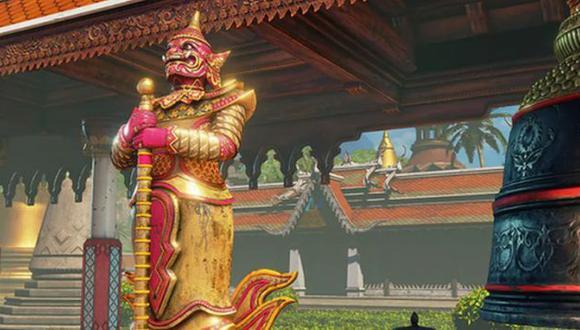 Street Fighter V: El nivel 'Temple Hideout' fue removido del juego por un error religioso. (Capcom)