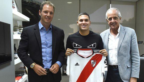 Juan Fernando Quintero renovó contrato con River Plate. (Foto: River Plate)