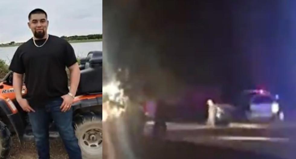 En las imágenes de los testigos se observa a Chávez de rodillas y por unos momentos arrastrándose en el piso. (Captura de video / Univisión).