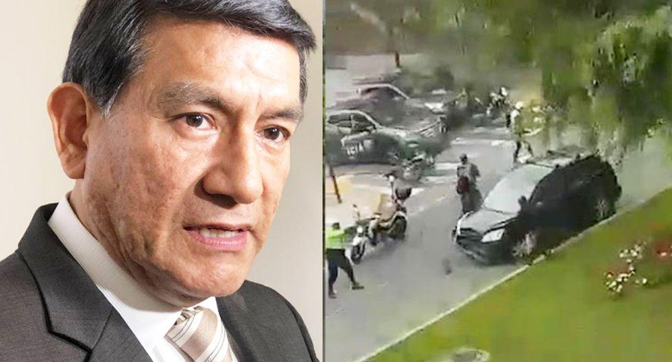 El ministro del Interior, Carlos Morán, respaldó la actuación de los agentes policiales. (Foto: Twitter Ministerio del Interior/ Captura de El Comercio)