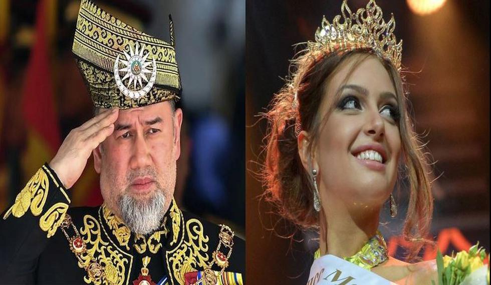 El primer monarca en abdicar y la reina de belleza se casaron hace dos meses, precisamente el pasado 22 de noviembre. (AFP/Reuters)