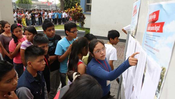 Minedu publicó los resultados finales de la última evaluación y la relación de ingresantes al COAR 2019. (Foto: Andina)
