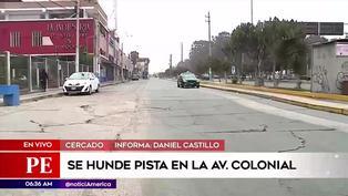 Callao: Pista se hunde en la cuadra 57 la avenida Colonial
