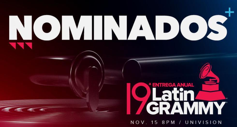 Latin Grammy 2018: Estos son todos los nominados para la gala de esta noche. (Difusión)