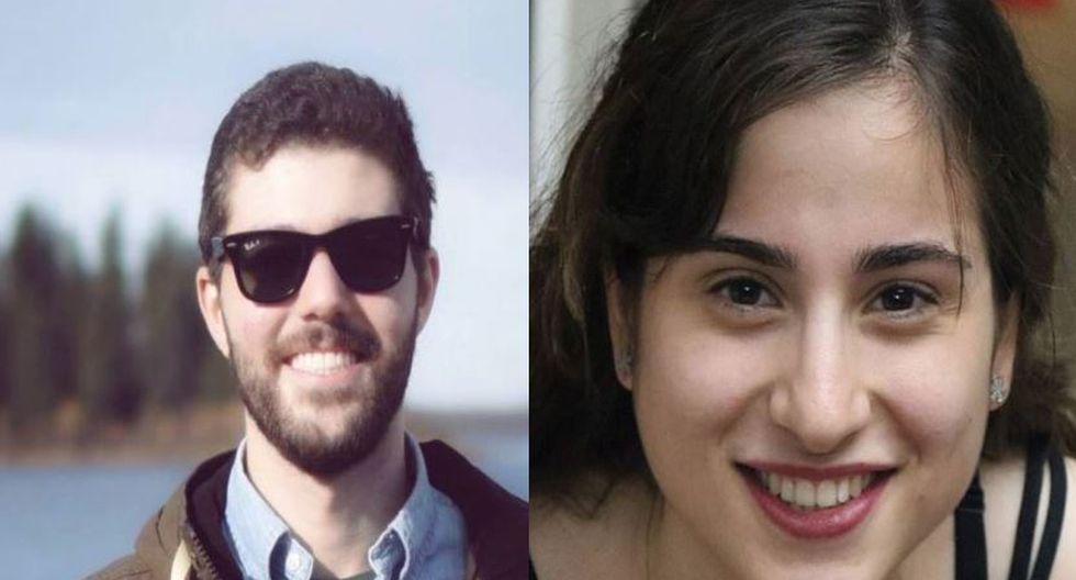 Arash Pourzarabi (26) y Pouneh Gourji (25) y su trágico final cuando iban a casarse a Irán. (Composición/Facebook)