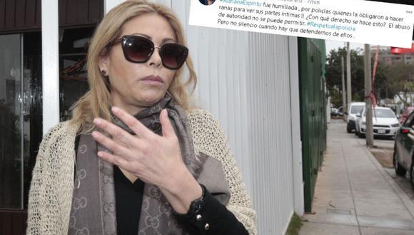 Gisela compartió su indignación por el trato que recibió joven intervenida en la Marcha Nacional. (FOTO: GEC)