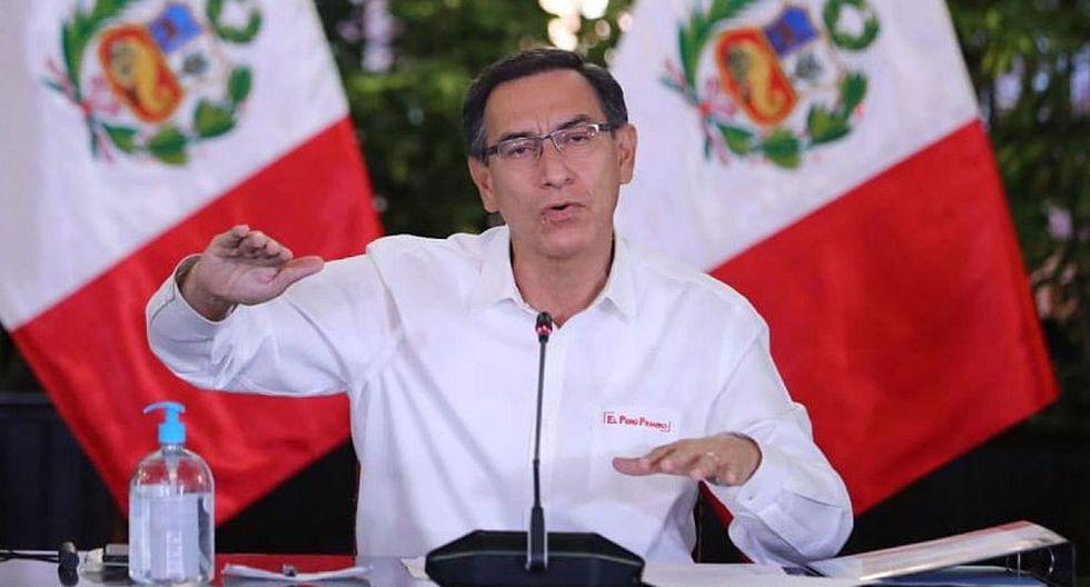 El presidente Martín Vizcarra en uno de sus pronunciamientos del mediodía. (Foto: Difusión)
