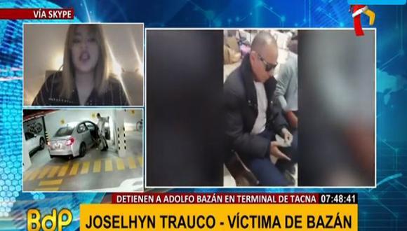 Bajada: Joshelin Trauco radica en el extranjero desde que habría sido ultrajada por Adolfo Bazán. (Captura: BDP)