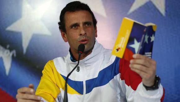 AL ATAQUE. Henrique Capriles afirma que Maduro es incapaz de resolver los problemas de Venezuela. (Reuters)