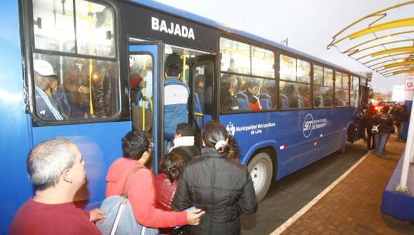 Todos los buses de la ruta serán azules. (USI)