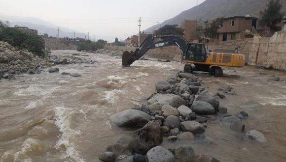 Los trabajos en el río Rímac se ejecutaron en seis tramos. (Ministerio de Vivienda)