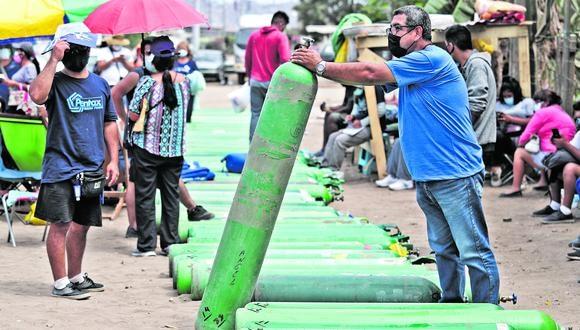 El déficit de oxígeno es uno de los principales problemas en el país. (LINO CHIPANA OBREGÓN / GEC)