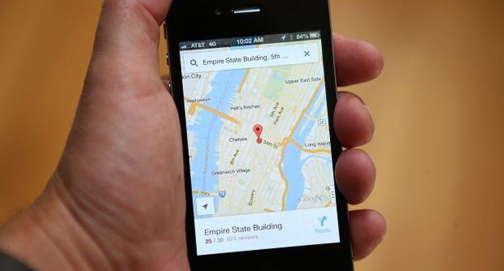 Google Maps incluye calles falsas dentro de su aplicación a propósito, según una web de tecnología. (Foto: AFP)
