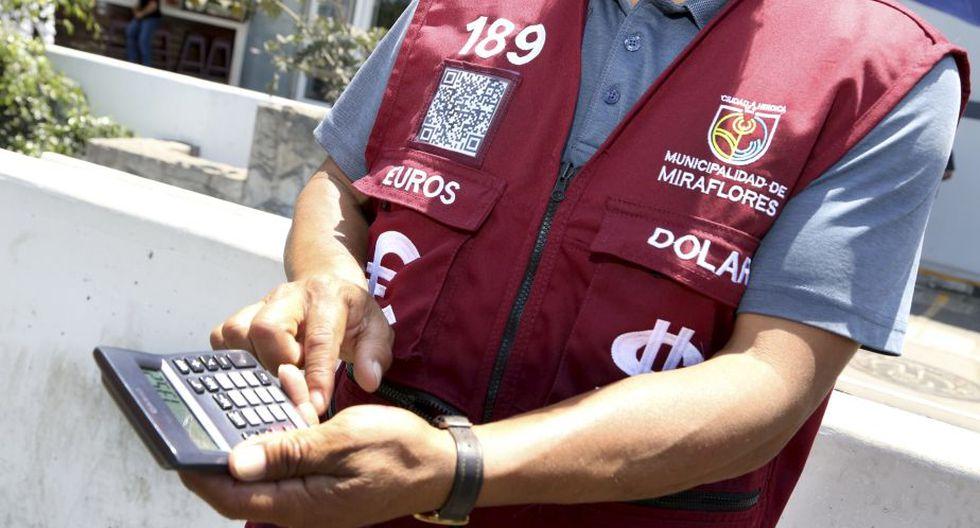 Implementan modernas medidas de seguridad para proteger a cambistas de Miraflores. (Difusión)