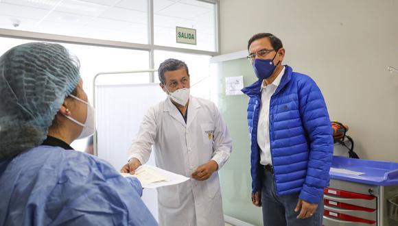 Germán Málaga negó tener poder de decisión sobre quién se vacunaba, en alusión al expresidente Martín Vizcarra. (Foto: Presidencia)