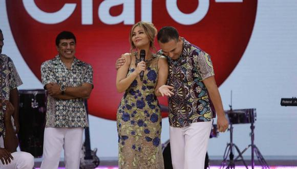 Gisela Valcárcel y ex capitán de Universitario de Deportes protagonizaron una de la bodas más esperados de la farándula peruana. (Anthony Niño de Guzman)