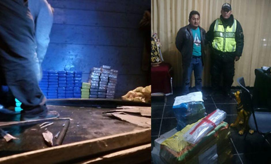 Puno: Hallan 126 kilos de cocaína ocultos en camión. (USI)