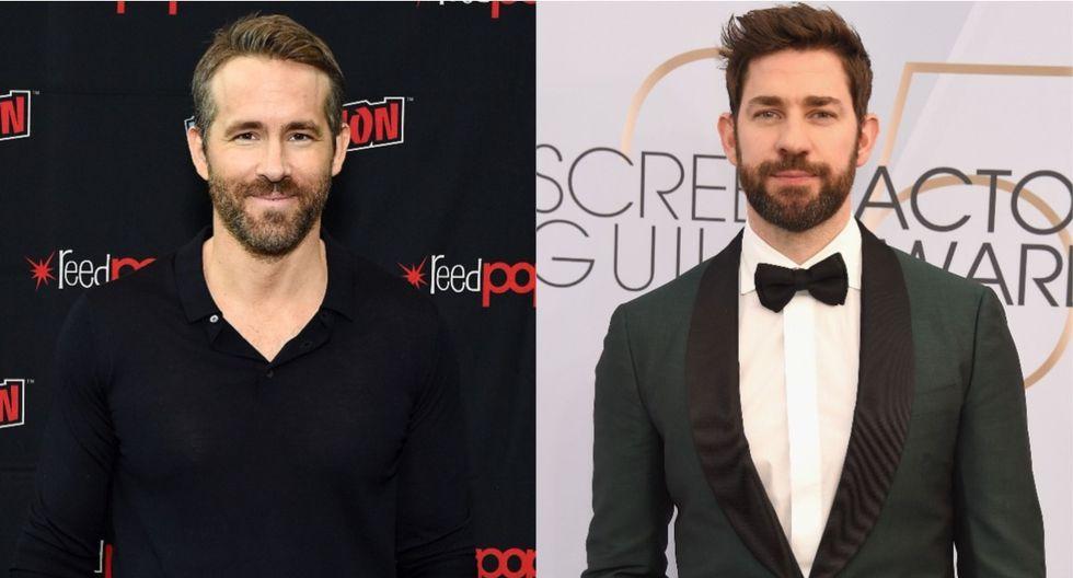 """Ryan Reynolds y John Krasinski trabajarán juntos en la comedia """"Imaginary Friends"""". (Foto: AFP)"""
