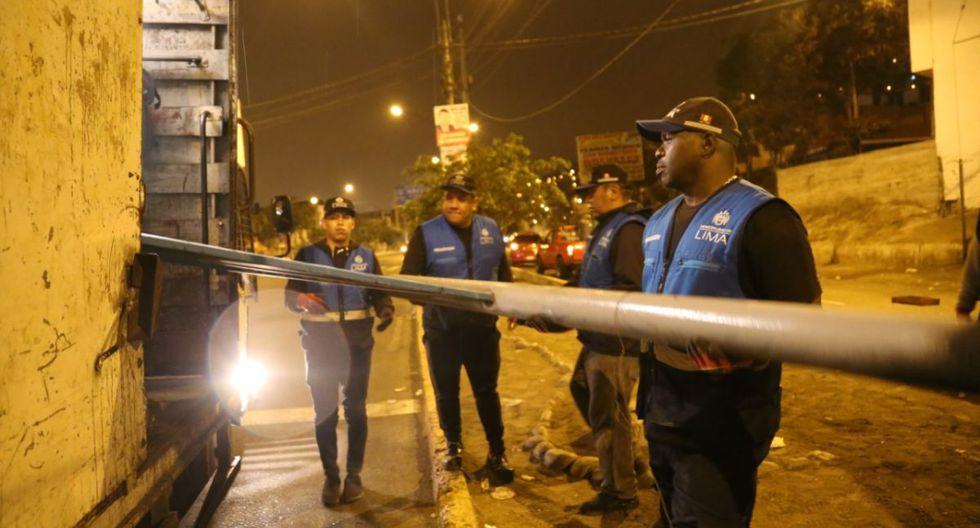 La Municipalidad de Lima ejecutó un operativo en un tramo de la avenida Túpac Amaru. (Difusión)